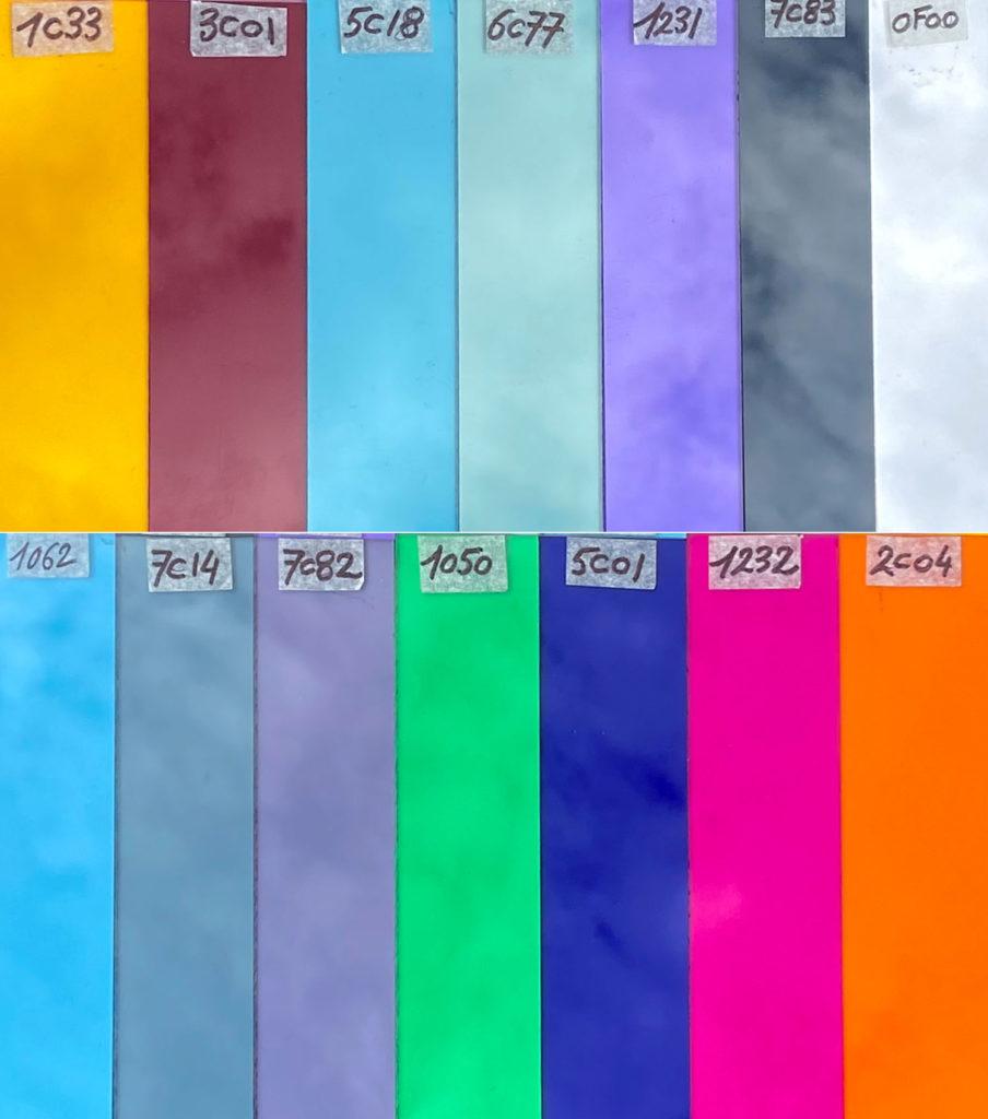 Les coloris des accordéons Snooopi